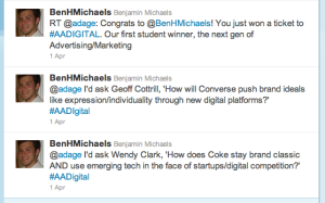 Winning Tweets to AdAge Digital Conference